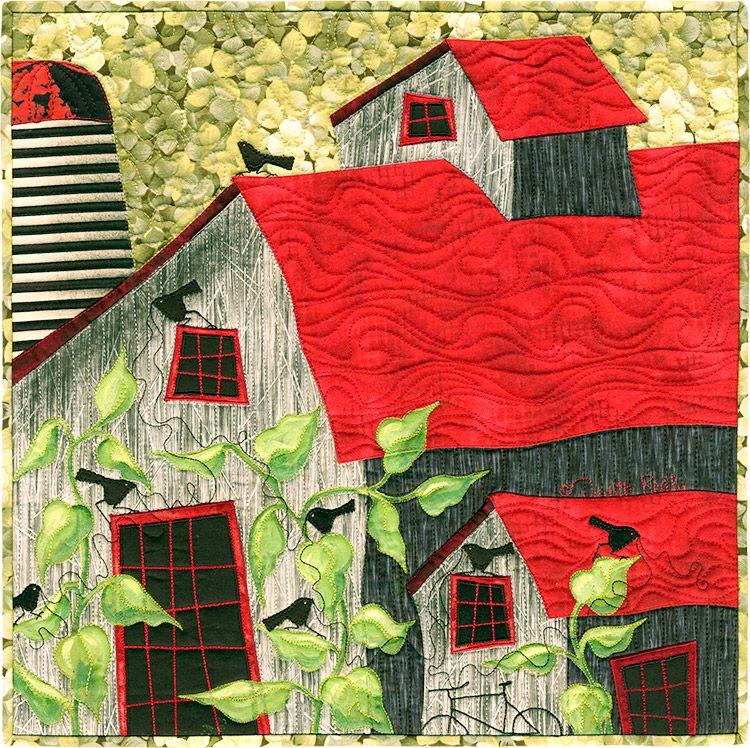 Foliage Farm - Judith Reilly Gallery | Huse og byer | Quilts, Landscape quilts og Landscape art ...