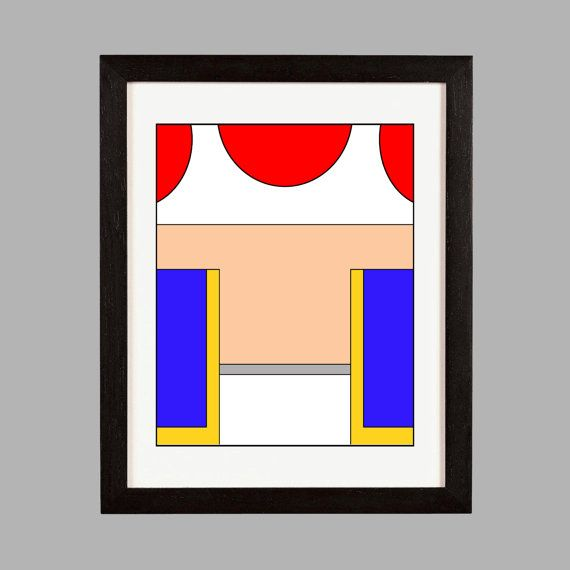 Super Mario Brothers Wall Art Print. Toad. by NiftyNancyDesigns ...