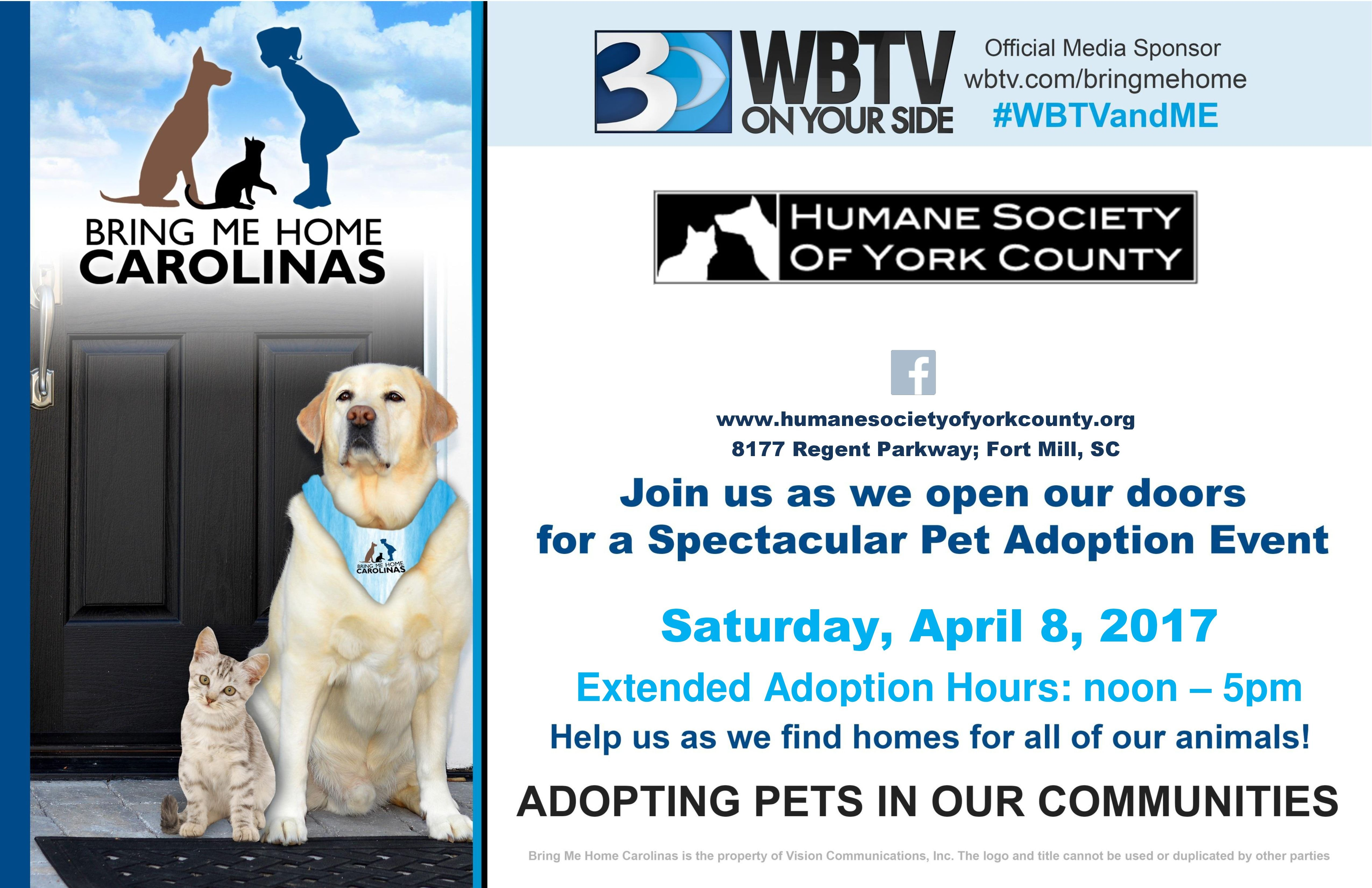 Bring Me Home Carolinas Pet Adoption Day April 8th Pet