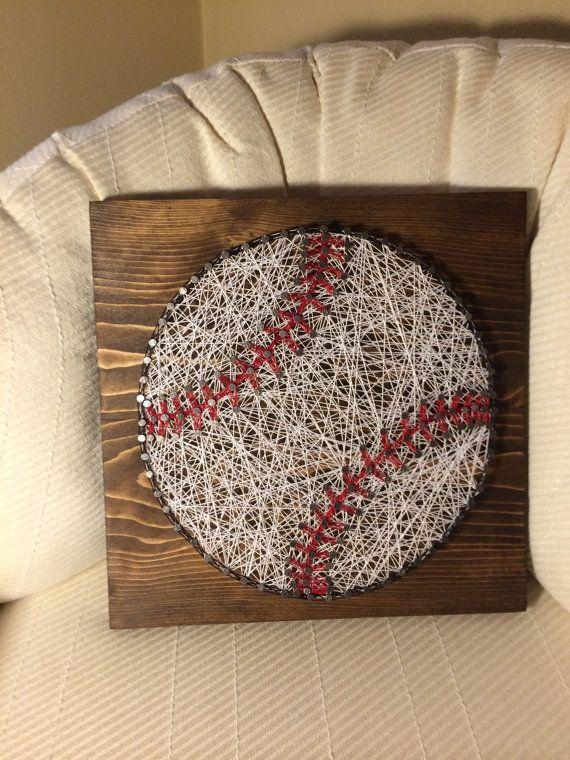 Photo of Made To Order Baseball String Art Sign Sports Art Kids | Etsy