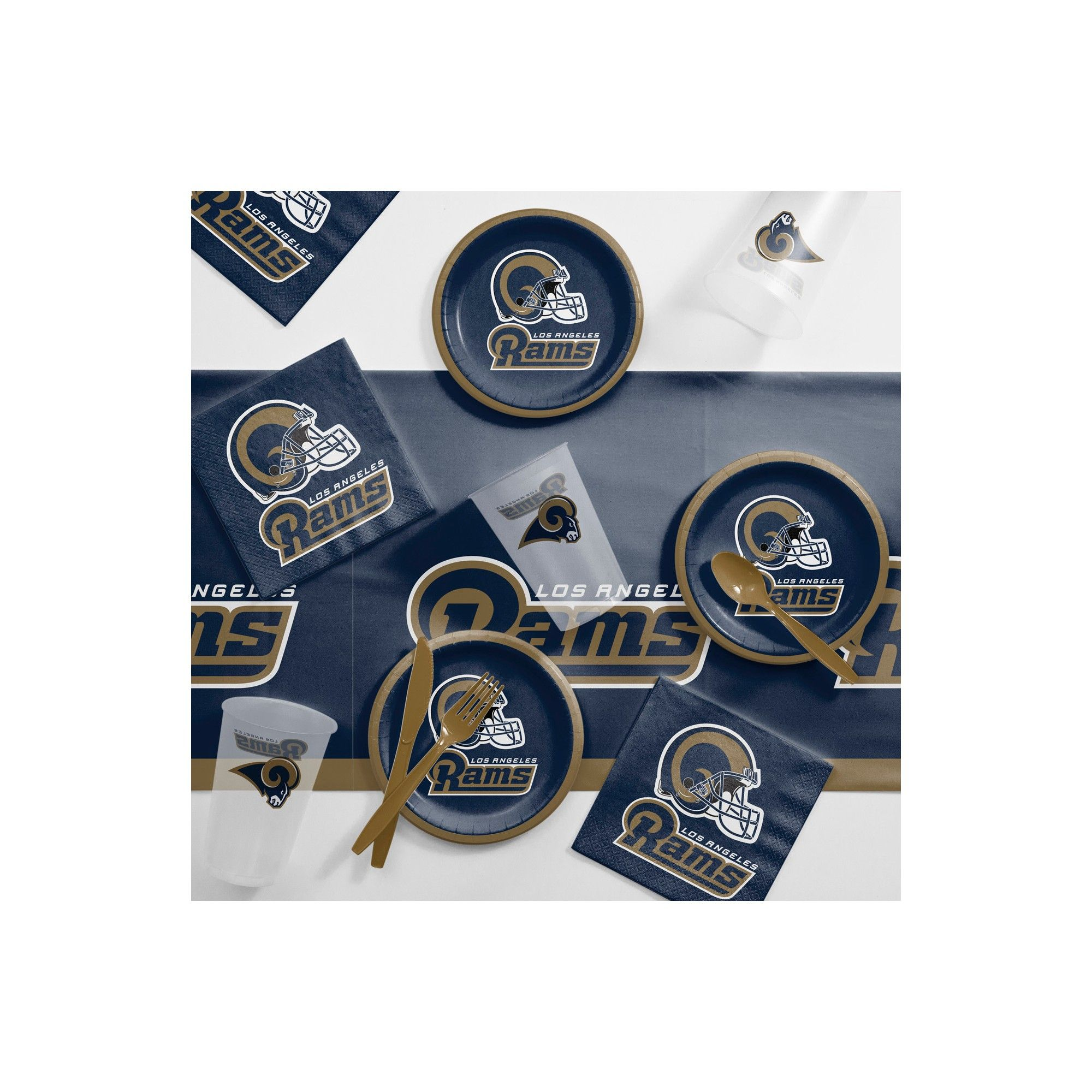 best website 446e6 2b020 NFL Navy Blue And Brown Los Angeles Rams Tailgating Kit ...