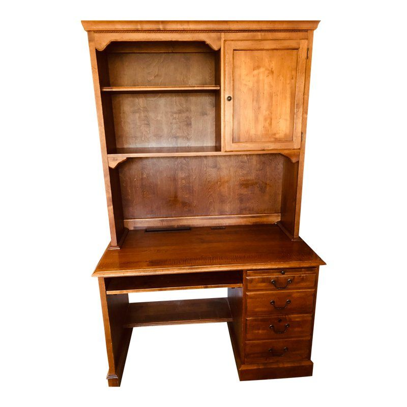 Traditional 1960s Traditional Ethan Allen Roll Top Desk For Sale
