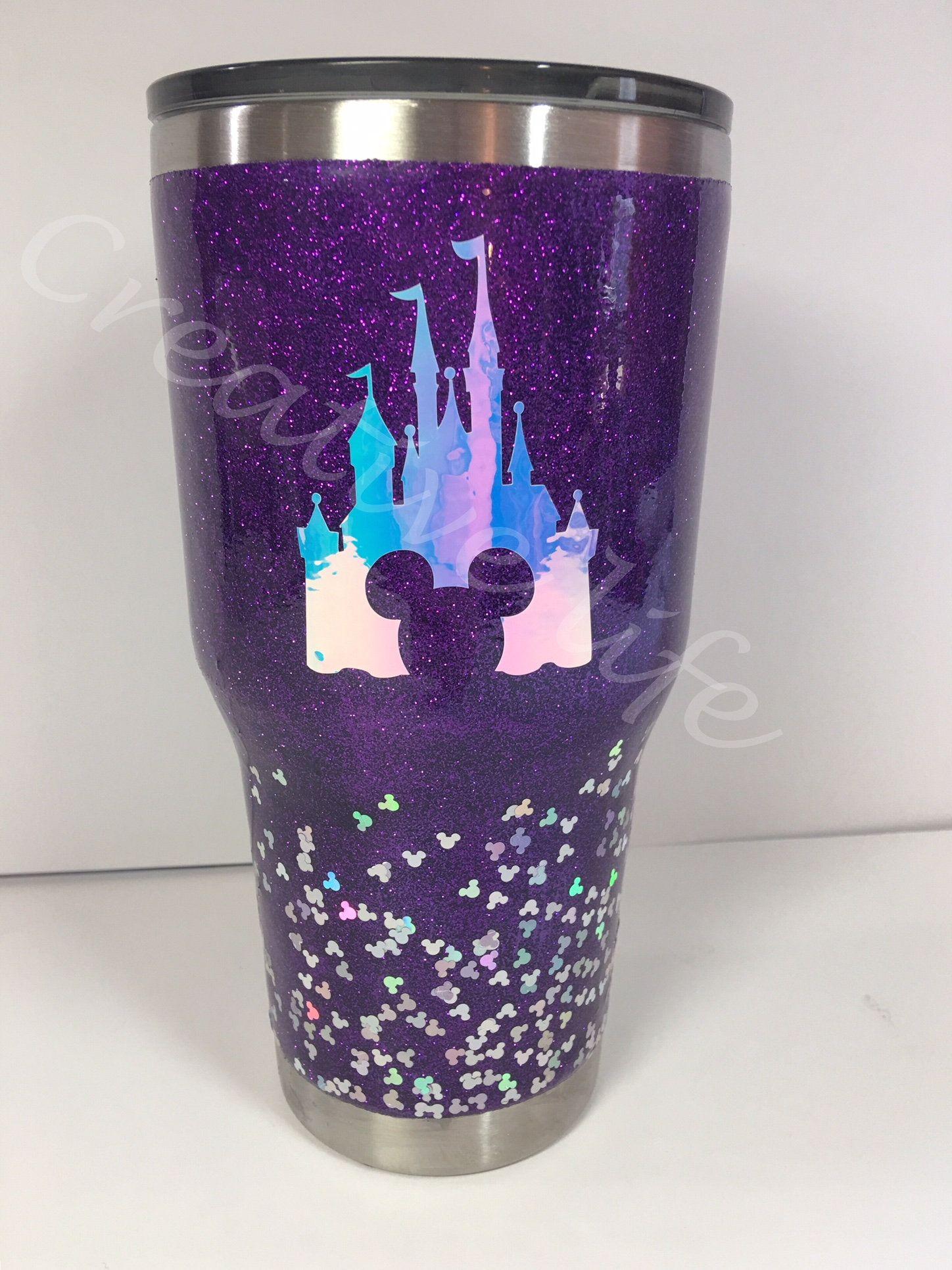097b69821d4 Disney Tumbler Glittered/ Stainless Steel Tumbler/Glittered tumbler/ Two  toned Glittered Ombre tumbler/Disney glittered tumbler, Disney cup by ...