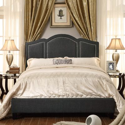 Darby Home Co Niagara Queen Upholstered Panel Bed Upholstery: Fabric - Charcoal