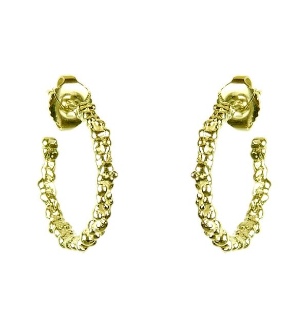 Yellow Gold Small Hoop Earrings