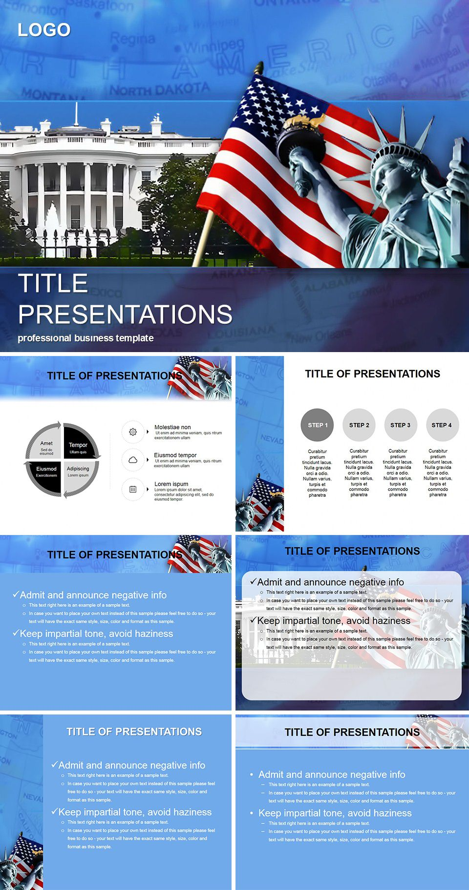 Symbols USA PowerPoint templates | Template