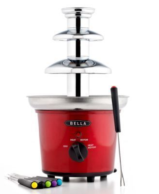 Red BELLA 13715 Chocolate Fountain Maker