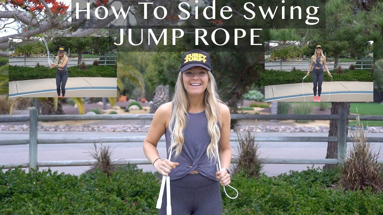 How to jump rope side swing tutorial in 3 minutes jump