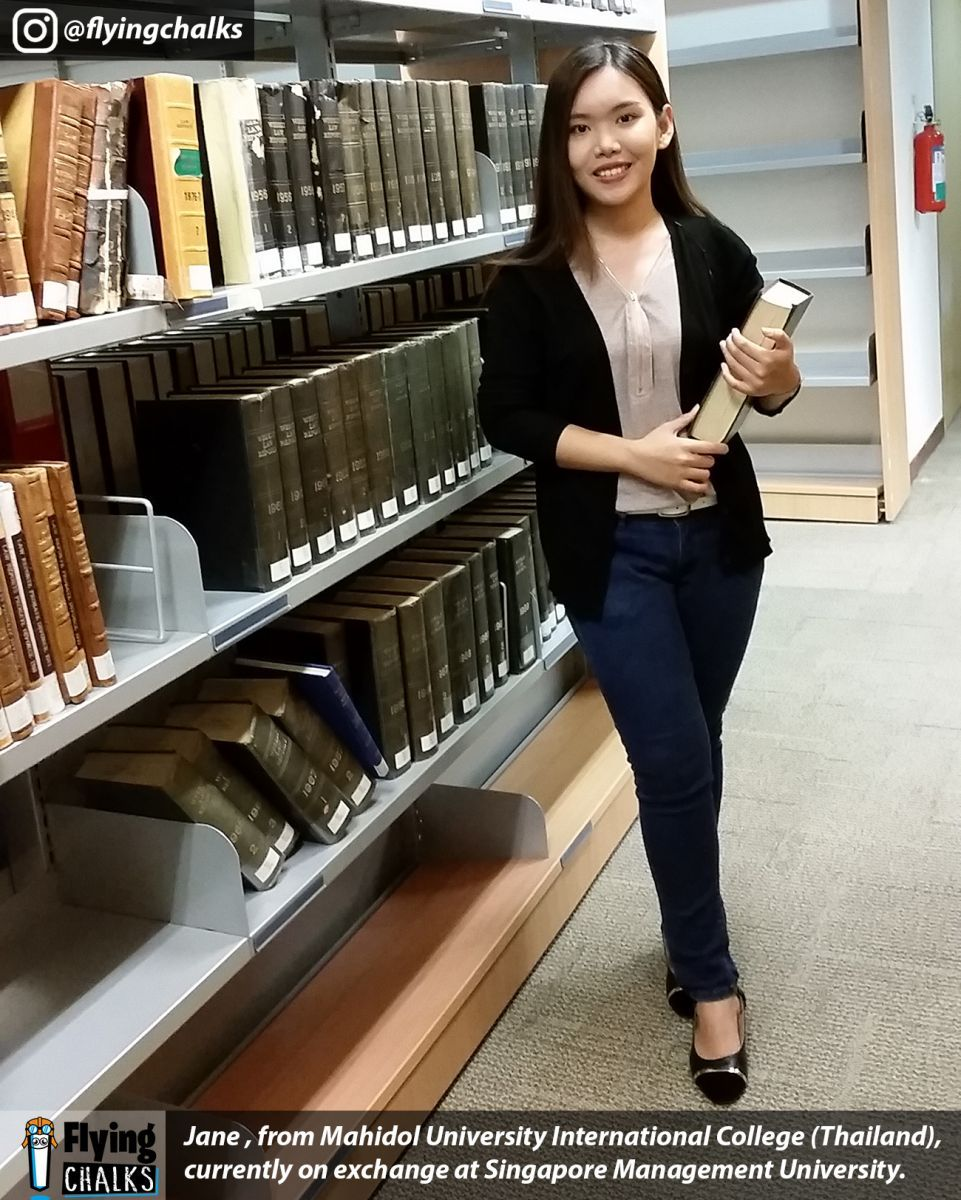 Study Abroad Exchanges Student Stories Jane At Singapore Management University Flying Chalks Connecti Study Abroad International Students Exchange Student