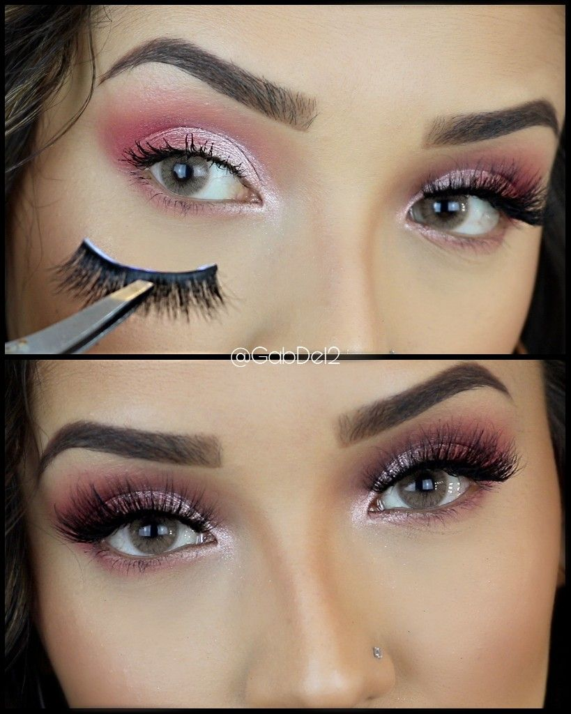 Step by Step tutorial on how to apply lashes. Eyelashes