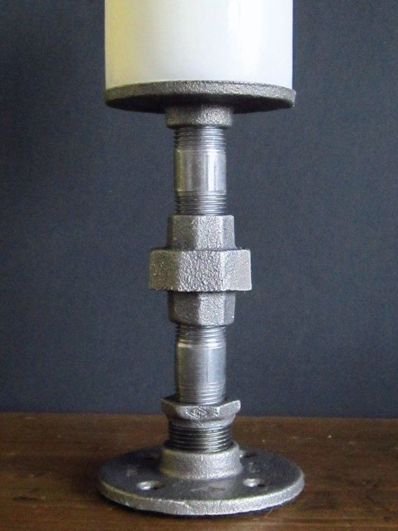 Industrial Pipe Candle Holder Large by IndustrialHomeBazaar