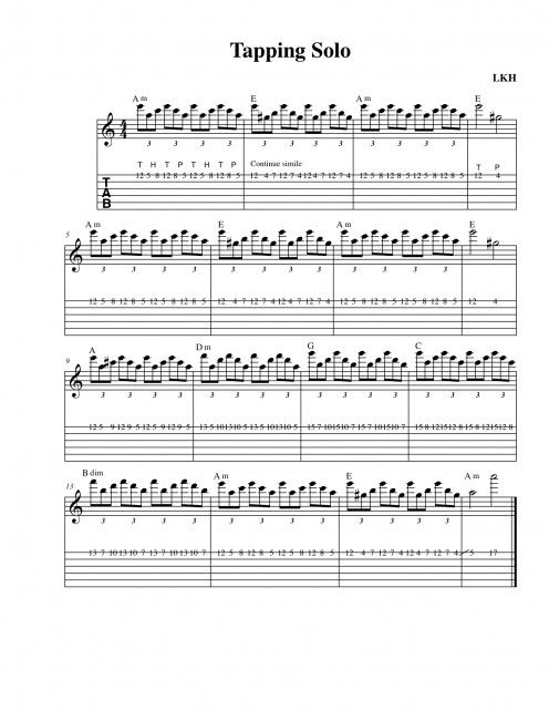 Rock Guitar Solo Caprice No 24 Tapping Solo Chords Tab Video Music Theory Guitar Learn Guitar Guitar Lessons