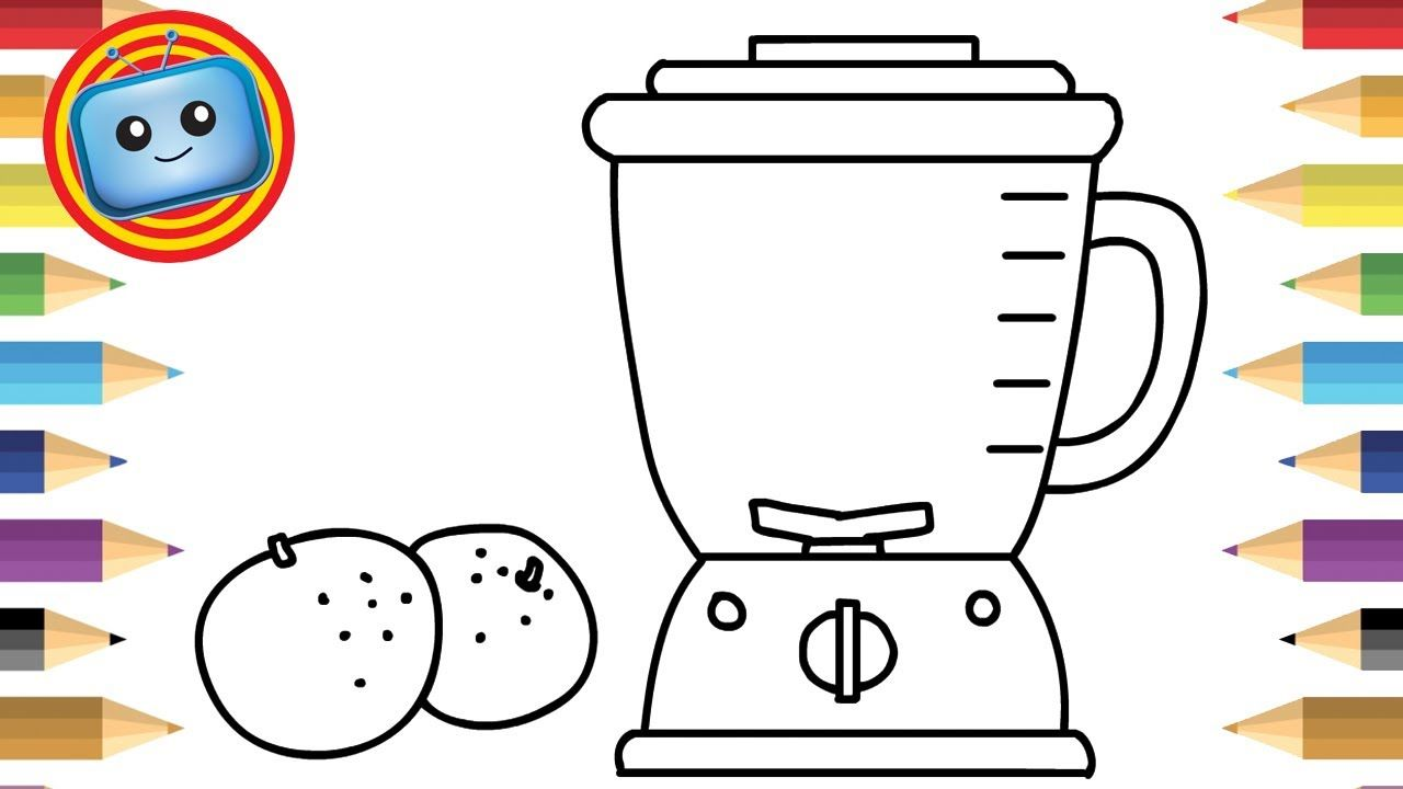 How to Draw a Blender Orange Juice Colouring book