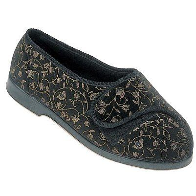 c98864052cf Amazon.com  GBS Nola Extra Wide Fit Ladies Slipper   Womens Slippers   Clothing
