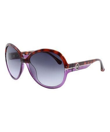 116454b6e42 Purple   Tortoise Oversize Round Sunglasses  zulily  zulilyfinds ...