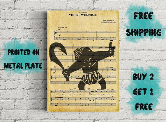 moana maui you re welcome music art unique marketplace pinterest