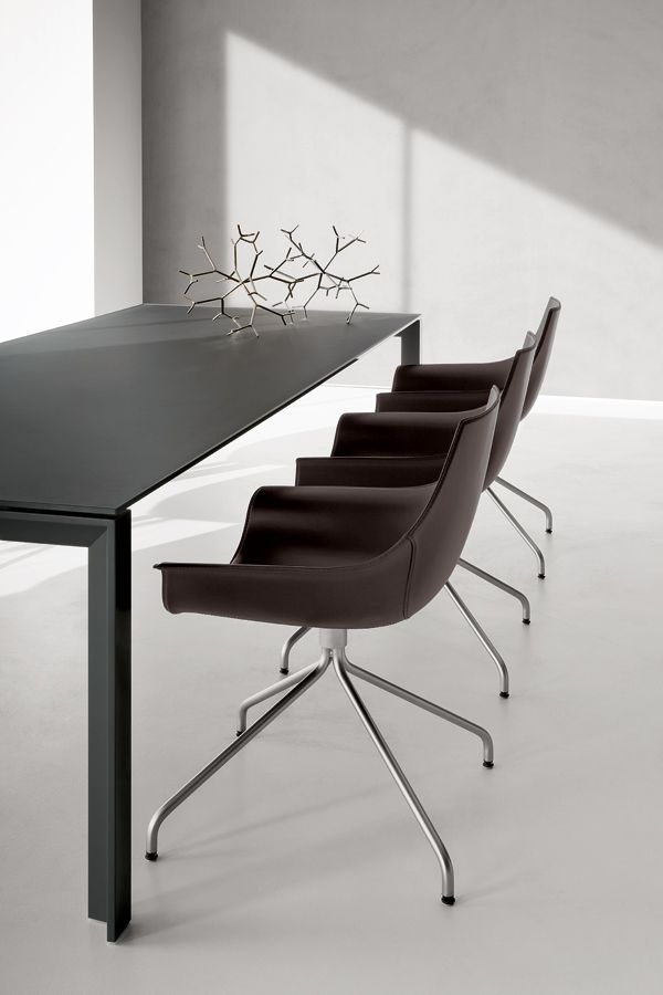 #interior Design #product Design #modern #contemporary #minimalism #dining  Table #leather Chairs   LaPalma   APTA