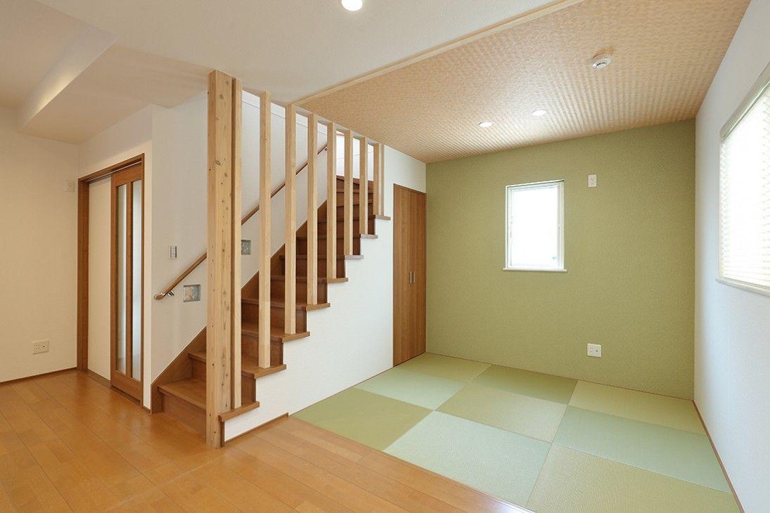 施工事例 リビング階段 間取り 住宅 畳