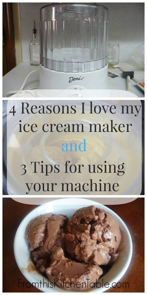 Automatic Ice Cream Maker From This Kitchen Table Ice Cream Maker Recipes Ice Cream Maker Kitchen Aid Ice Cream