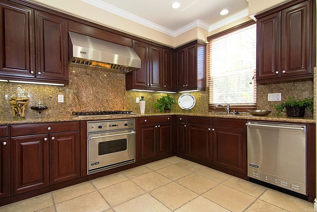 Interesting - they painted out the bulkhead above cabinets and used ...
