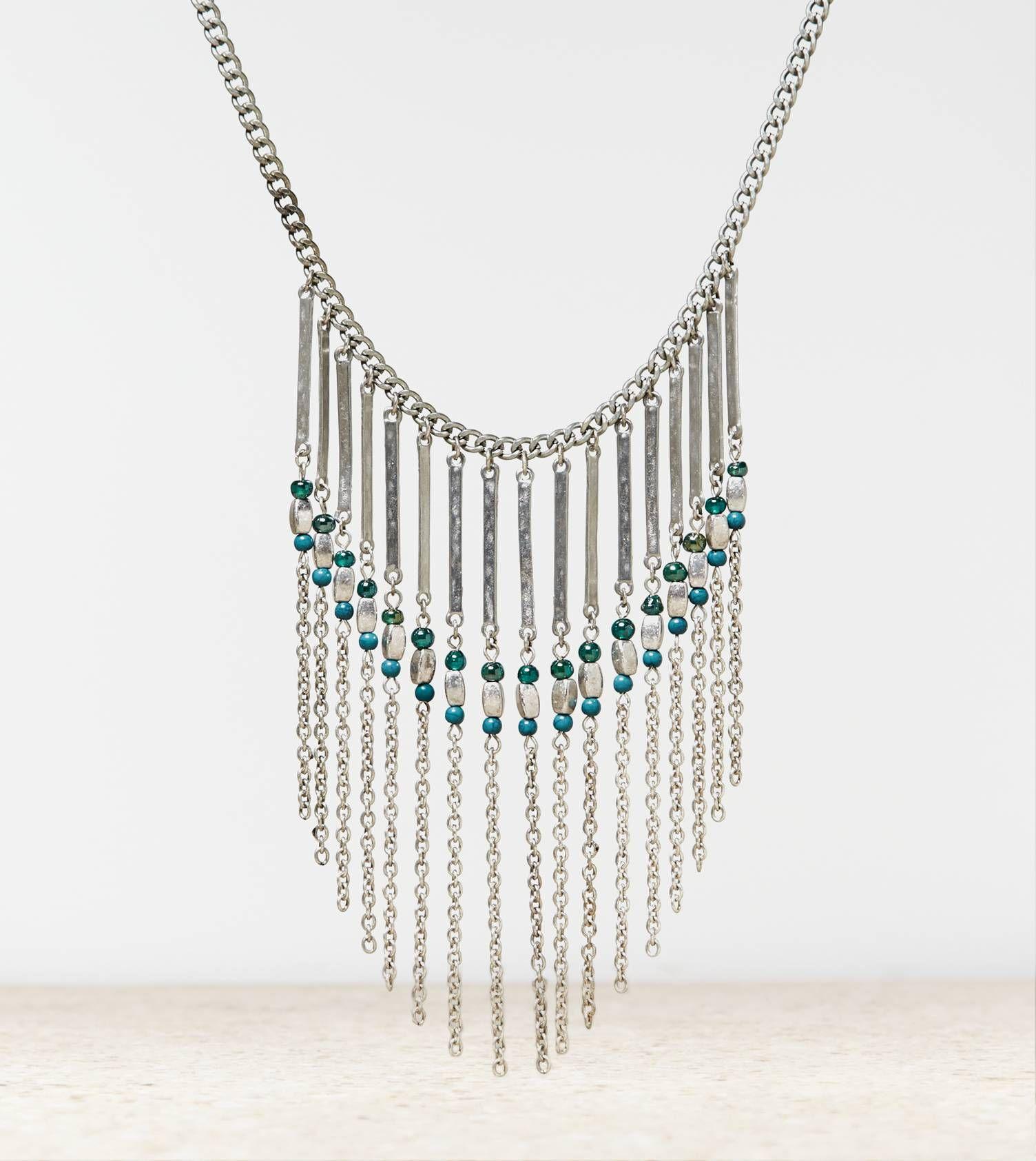 Aeo beaded chandelier necklace jewelry pinterest beaded