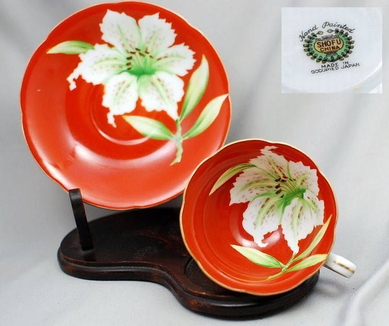 Cup and Saucer made in Occupied Japan by Shofu China