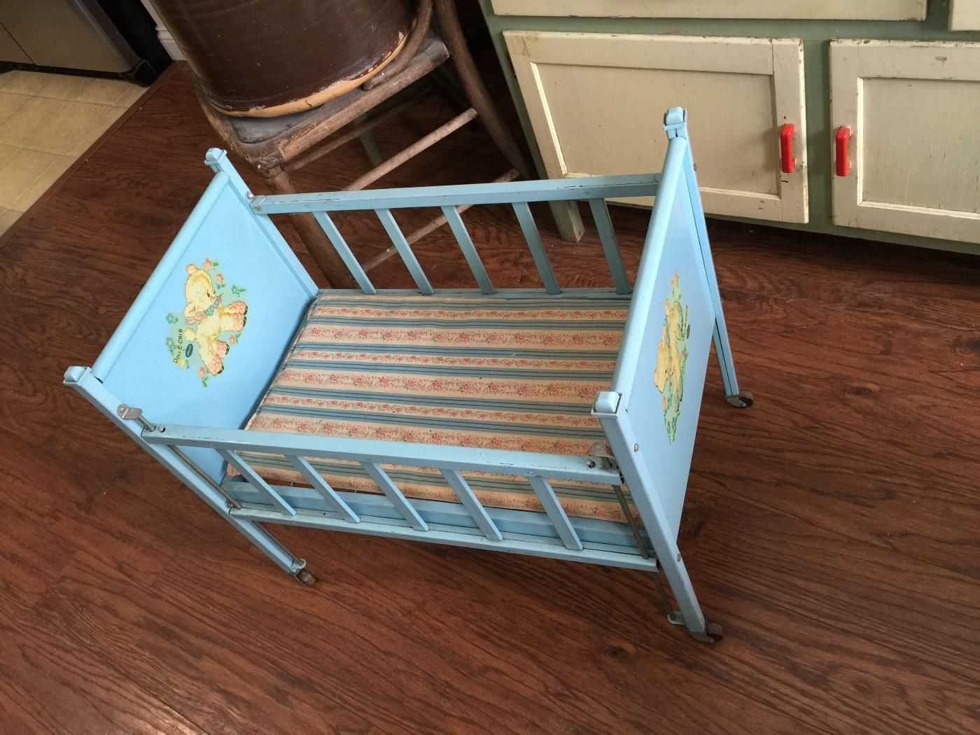 Baby doll crib mattress - For Sale Vintage 1950 Era Amsco Doll E Crib Toy This Is