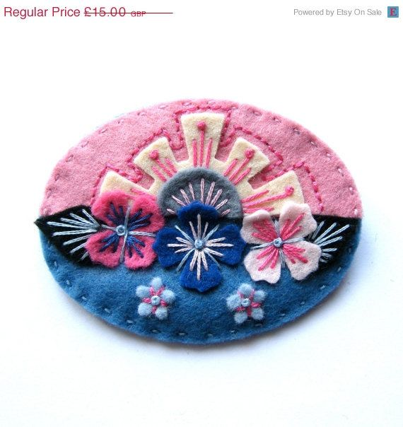 Hey, I found this really awesome Etsy listing at https://www.etsy.com/listing/168695619/summer-sale-horizon-felt-brooch-pin-with