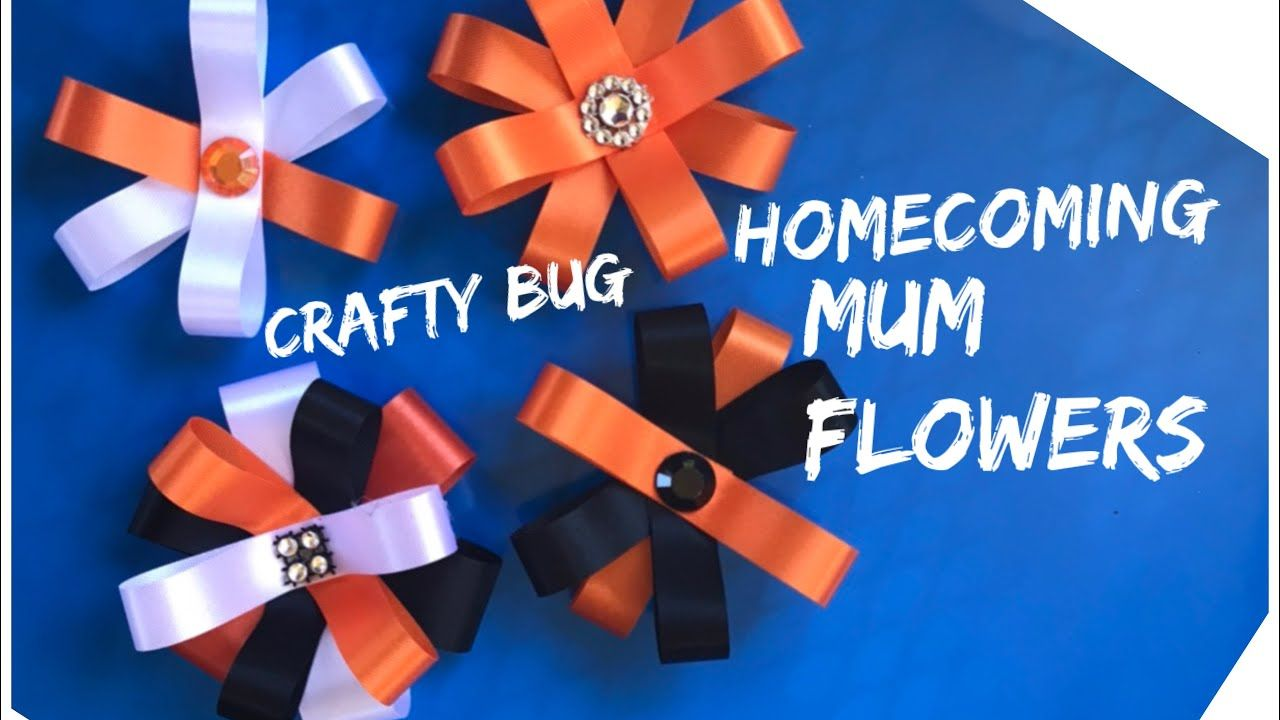 Homecoming mum ribbon flowers; DIY HOMECOMING MUMS; how to make homecoming mums