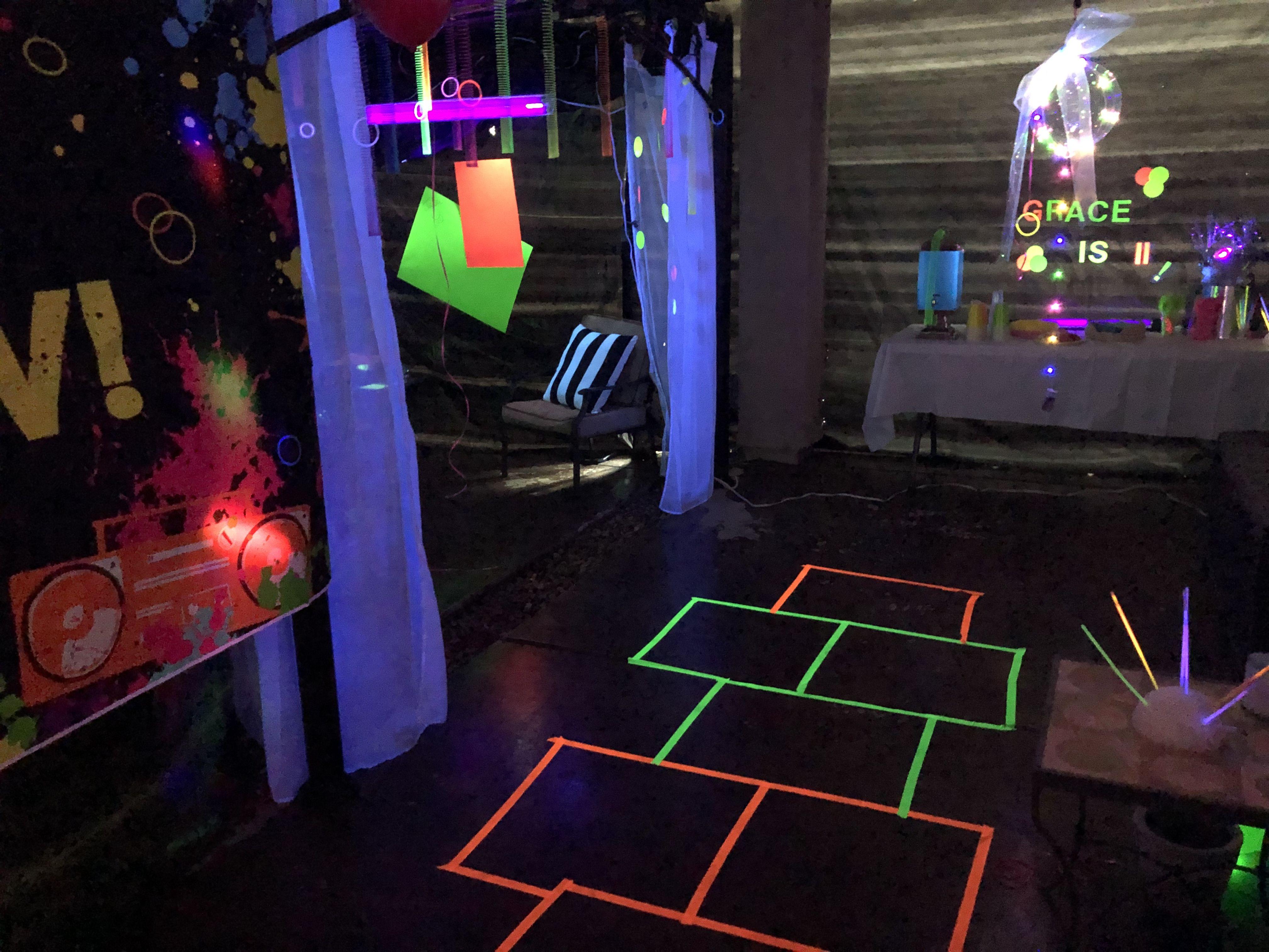 Glow In The Dark Hopscotch Glow Tape Glow Party Neon Tape