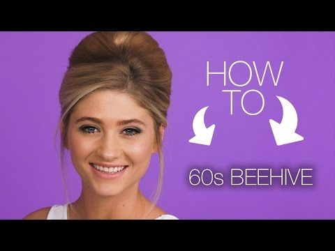 How To Get The 60s Beehive Hair Look Youtube Kids Hair In 2018