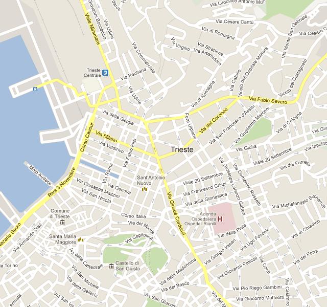 Trieste Trasporti | Da punto... a punto | Map, Trieste ...