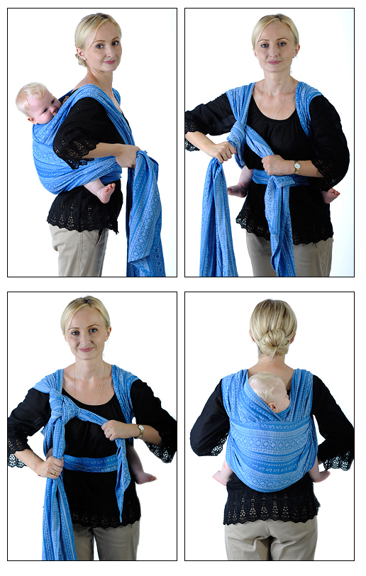 550b2d0f37c How to Tie wraps for holding baby... front and back style - The Willow Tree  » The Willow Tree