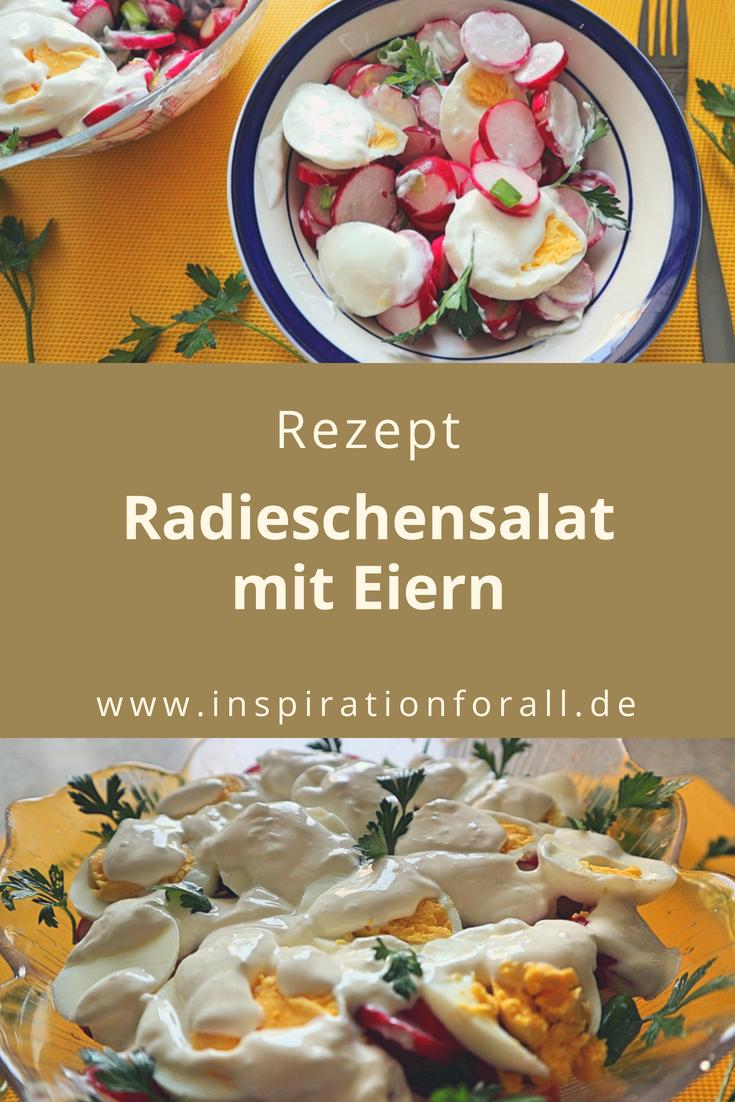 Radieschensalat mit Eiern – leckeres und einfaches Rezept