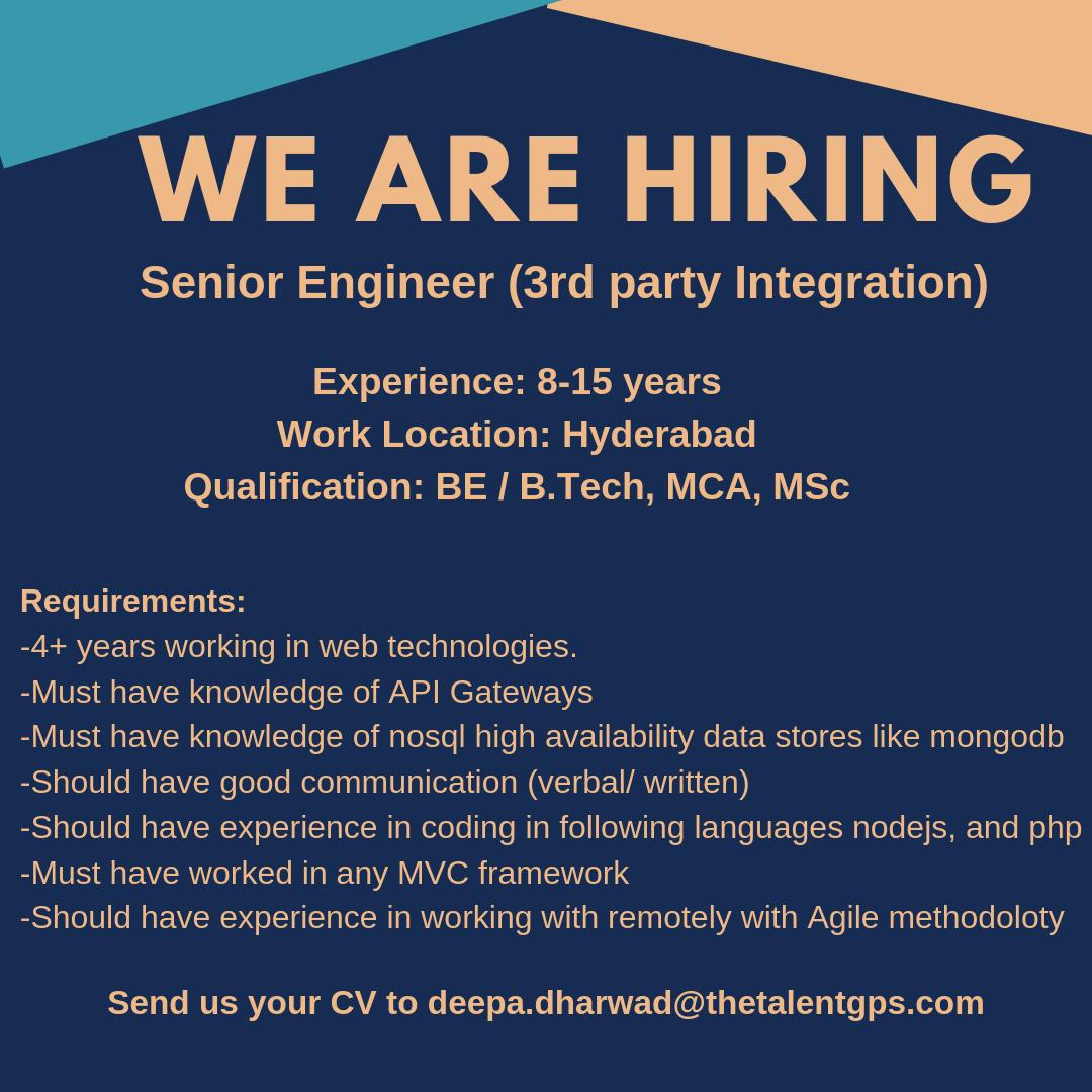 Send Us Your Cv To Deepa Dharwad Thetalentgps Com Job Location Hyderabad Job Openings Softwareengineer 3rd Job Opening Good Communication Web Technology
