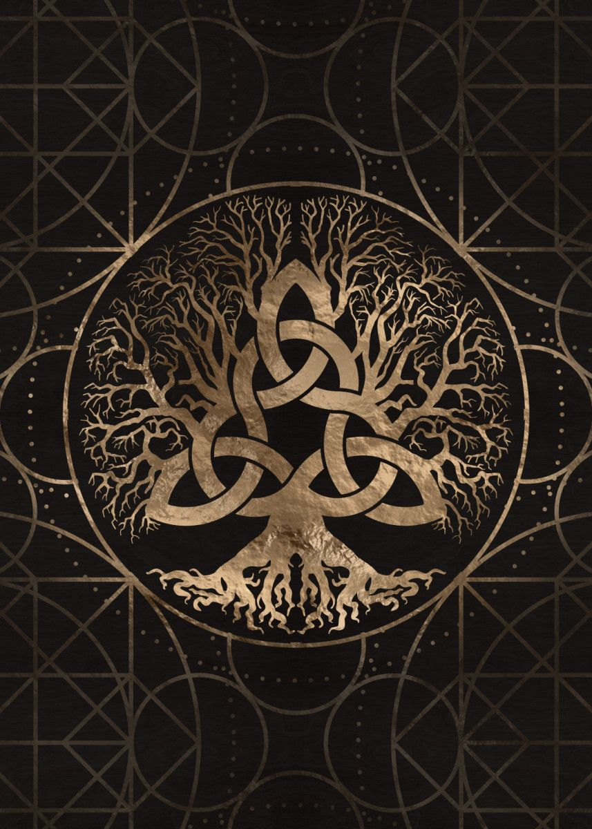 'Tree of life Yggdrasil' Poster Print by Lioudmila