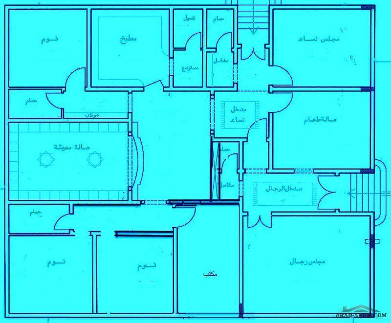 الفلل والقصور صفحة 11 Architectural House Plans My House Plans Family House Plans
