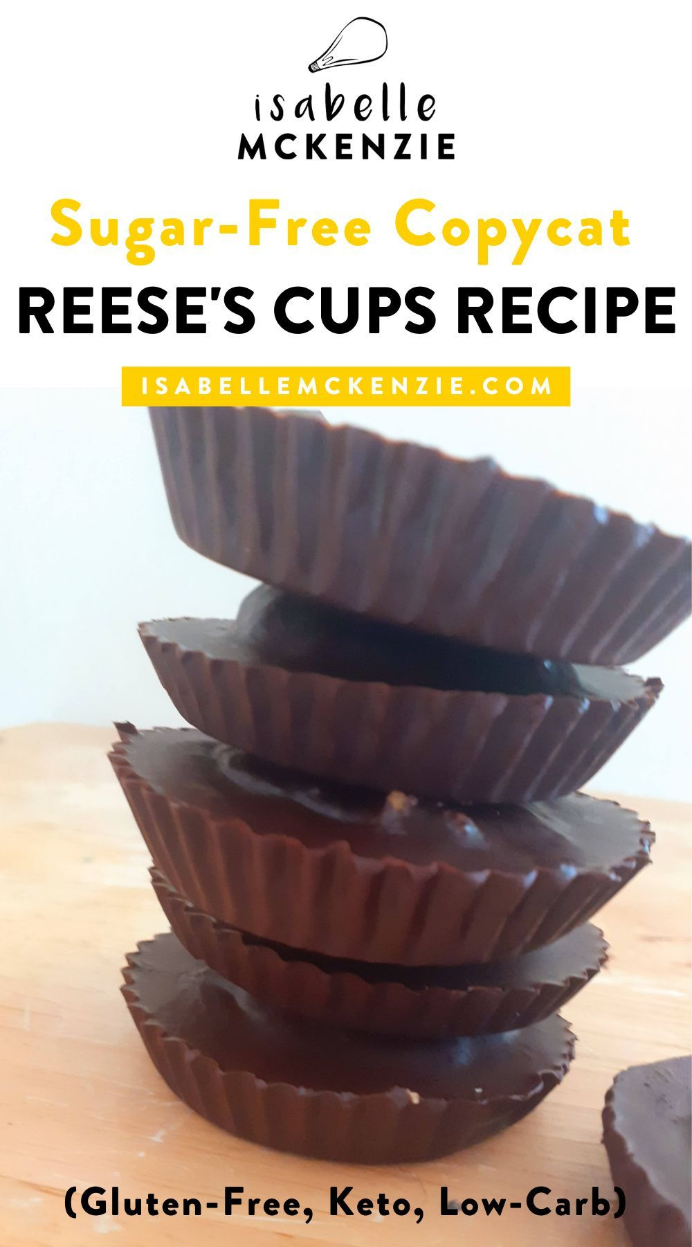 Sugar Free Peanut Butter Cups Recipe Vegan Gluten Free Keto Low Carb Reese S Peanut Butter Cups Recipe Sugar Free Peanut Butter Delicious Treats Recipes
