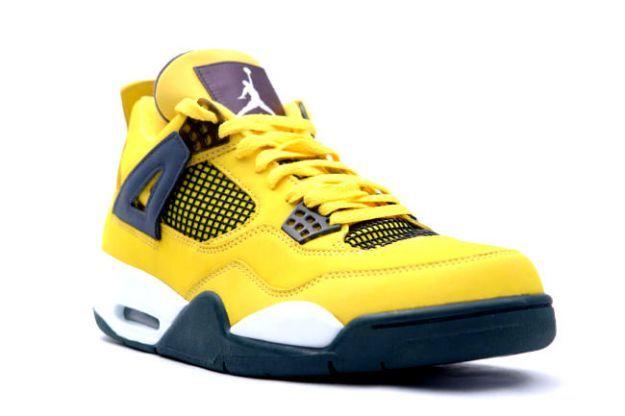 643d1d1d9f7f60 Air Jordan 4 (IV) Retro LS - Lightning (Tour Yellow   Dark Blue - Grey -  White)