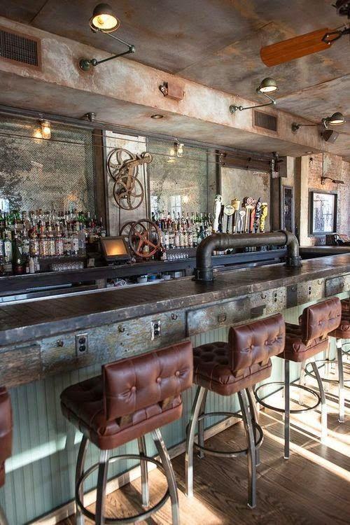 Woonblog Industrieel Interieur Wooninspiratie Restaurant Interieur Bar Decor Decoraties