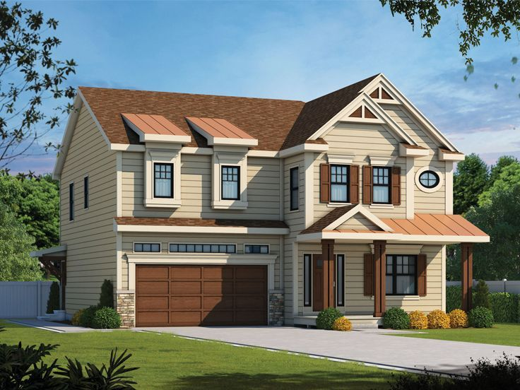 031H0366 Narrow Lot House Plan for MultiGenerational