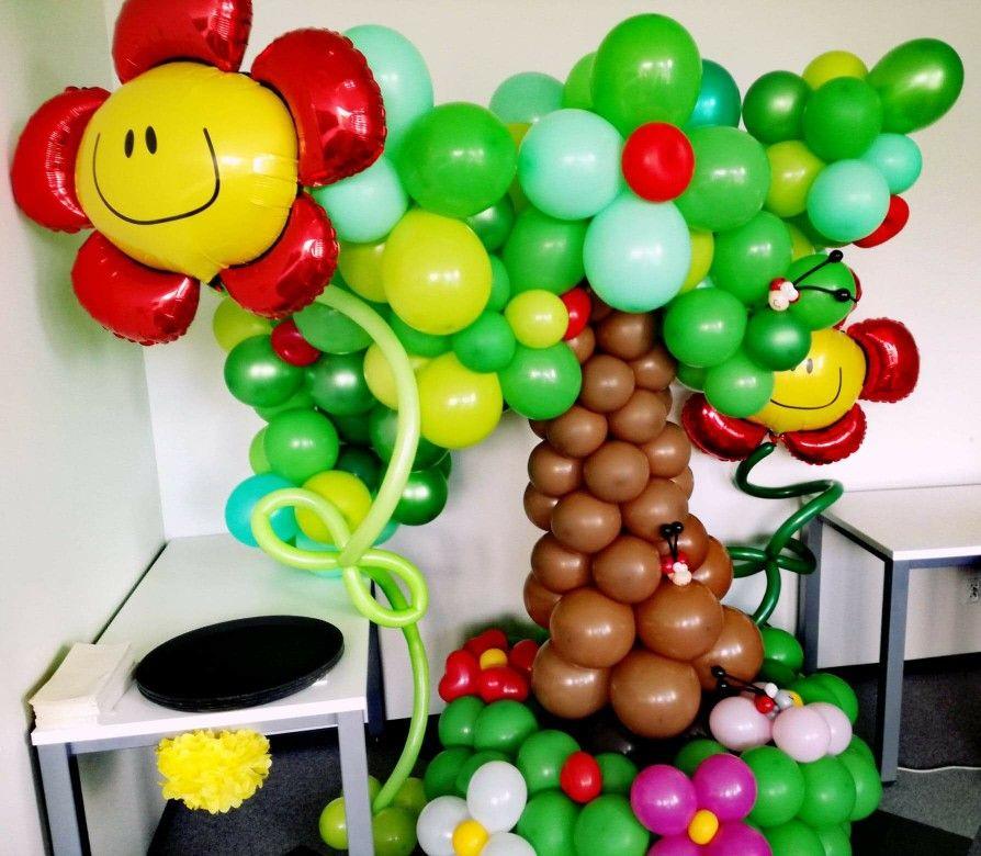 Balonowe Drzewo Balony Dekoracja Balloon Decorations Balloons Baby Shower