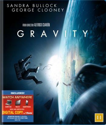 Sci-Fi vuodelta 2013 ohjaus Alfonso Cuarón pääosissa Sandra Bullock ja George Clooney.
