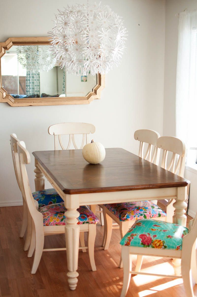 How To Refinish A Kitchen Table Chaircushions Diykitchentable