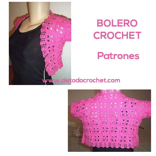 Todo crochet | Crochet fácil, Boleros y Patrones