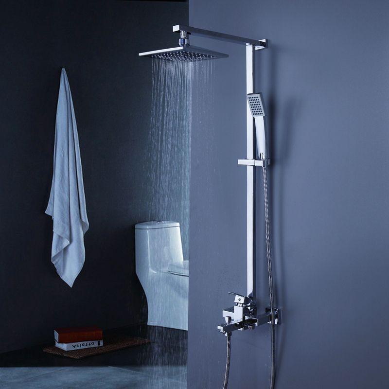 bañera contemporánea grifo de la ducha con alcachofa de la ducha 8 ...