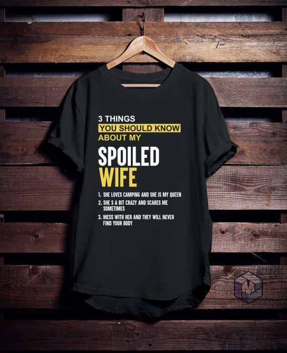 2b297e54a I Love Camping Shirt, My Spoiled Camping Wife Shirt, Camping T Shirt,  Camping Tees, Husband T Shirt,