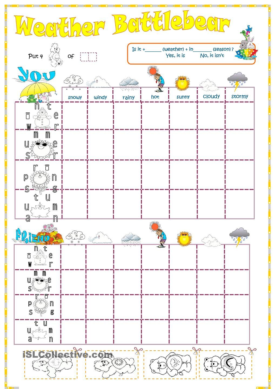 worksheet Weather Patterns Worksheet weather and seasons battleship teaching english pinterest worksheet free esl printable worksheets made by teachers