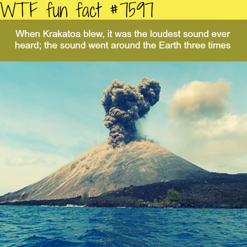 the loudest sound ever heard wtf fun fact wtf fun facts fun