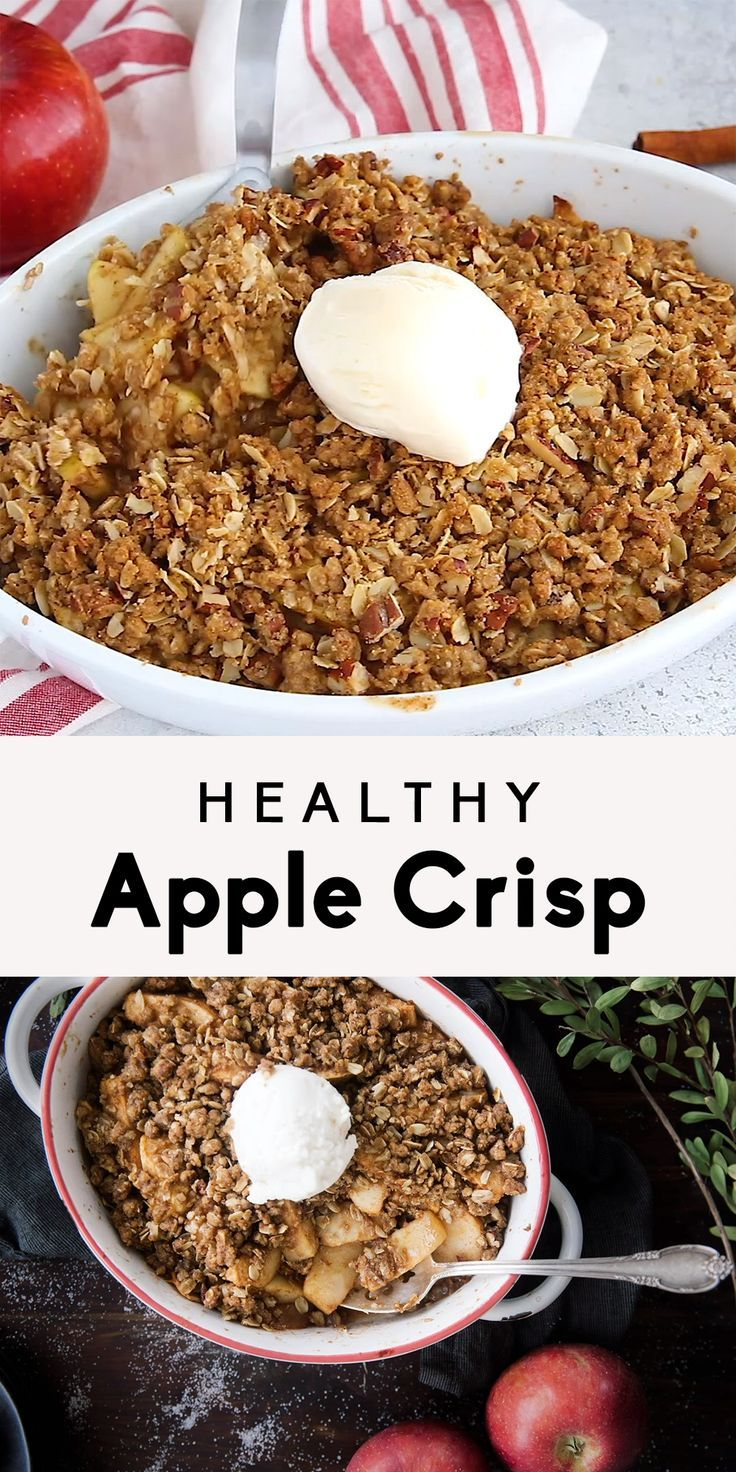 Healthy Apple Crisp Recipe | Ambitious Kitchen